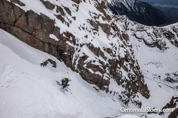 Ian Fohrman skis Pigeon peak