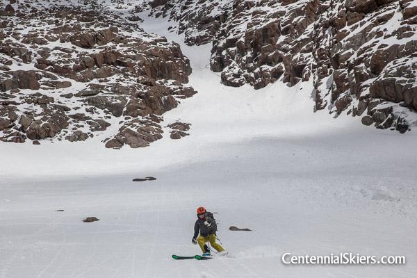 Christy Mahon skis Pigeon peak