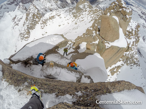 Centennial Skiers descend Jagged Mountain
