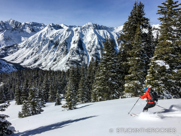 Christy Mahon backcountry skiing in Ashcroft