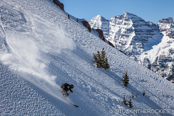 Greg Ernst skiing Aspen Highlands backcountry