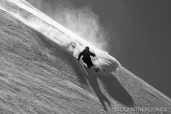 Greg Ernst skiing Highlands Ridge