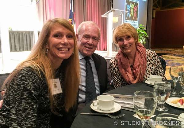 Christy Mahon and her parents Rick and Lynn at the awards banquet
