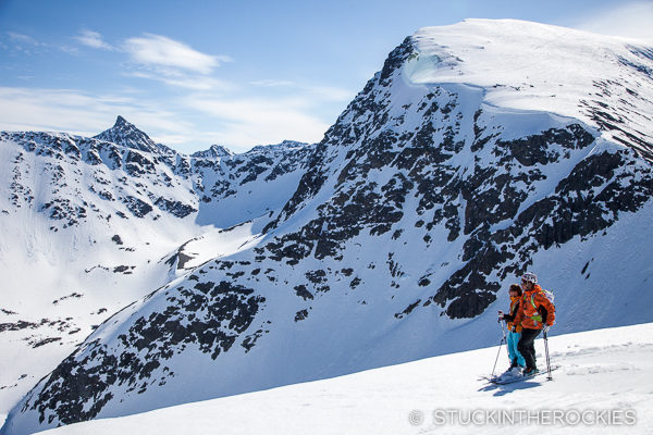 Max Taam and Jessie Young in the Northern Lyngen Alps