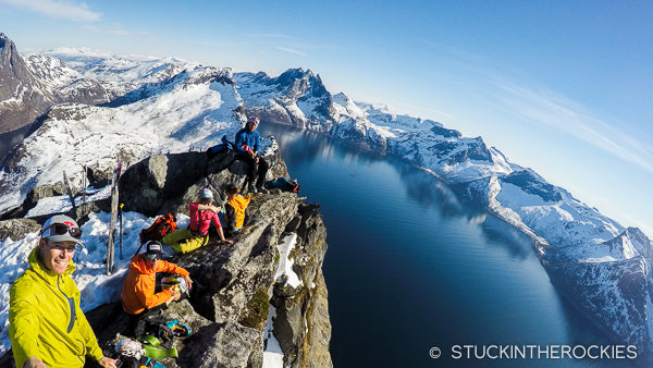 On the summit of Segla. on Senja Island, Norway.