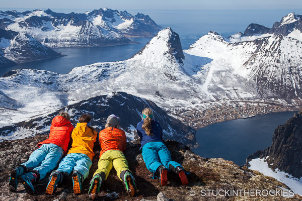 Grytetippen summit in Senja Norway