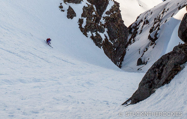 Anda Smalls in the couloir