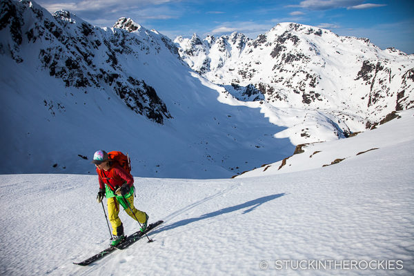 CHristy Mahon skiing in Lofoten Islands