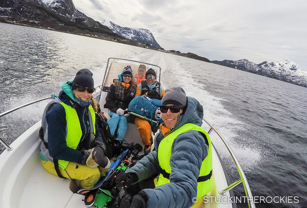 Taking a boat to the Troll Fjord