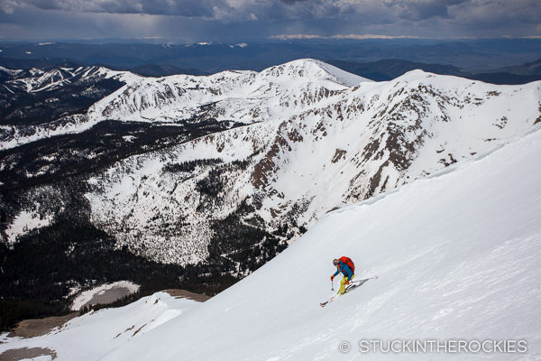 Skiing Mount Aetna Colorado