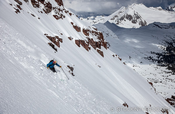Skiing North Maroon Peak