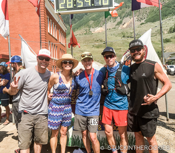 At the finish of the 2016 Hardrock 100