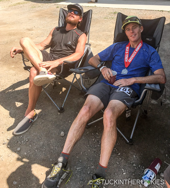 Ted Mahon and Eric Sullivan after the Hardrock 100