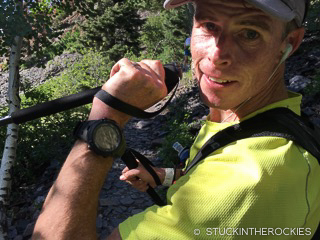 Ted Mahon at the Hardrock 100