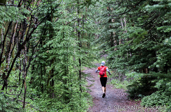 Christy Mahon runs the Colorado Trail