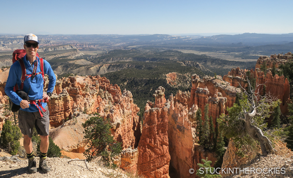 Ted Mahon backpacking in Bryce Canyon National Park
