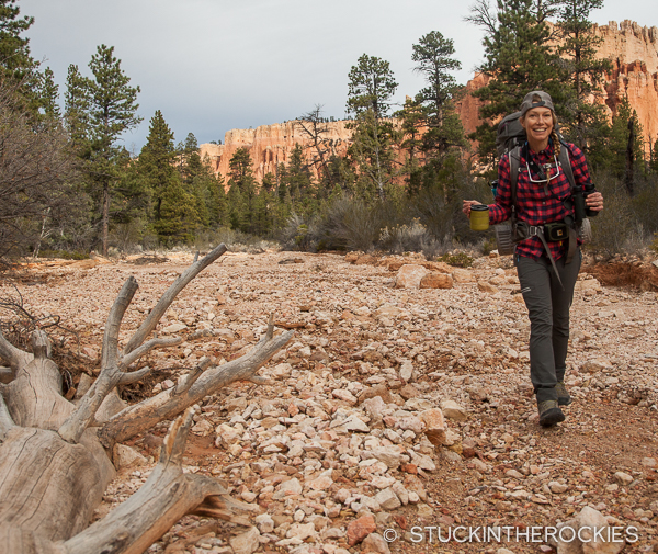 Christy Mahon backpacking in Bryce Canyon National Park
