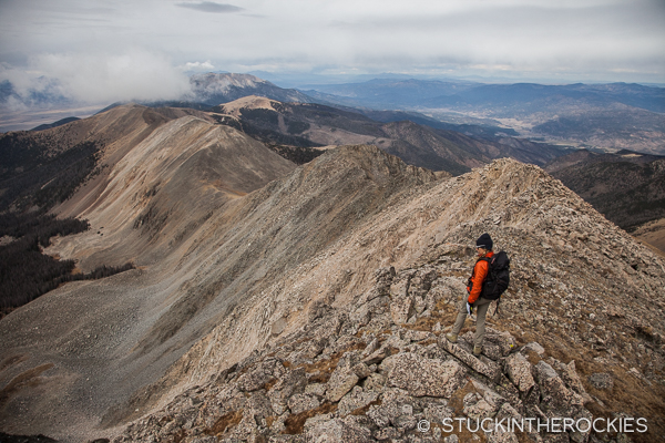 Cottonwood Peak's North Ridge