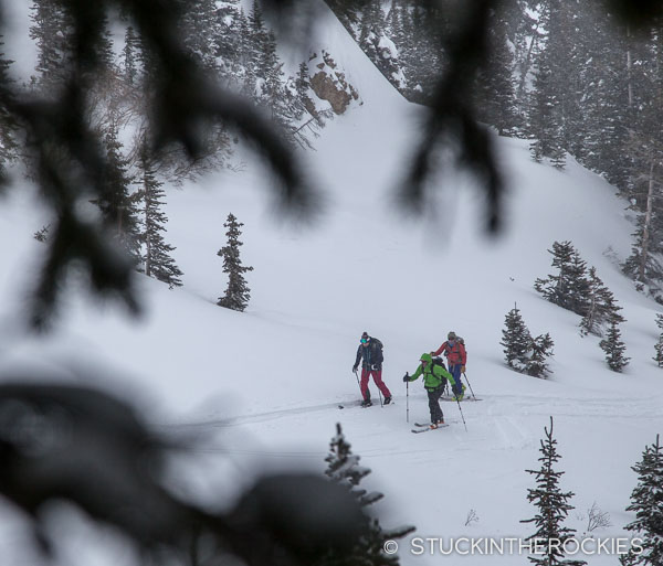 Ski touring in Pearl Basin