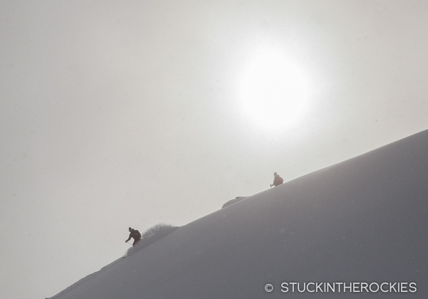 Christy Mahon backcountry skiing