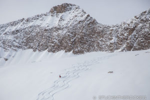 Backcountry skiing outside of Marble, Colorado