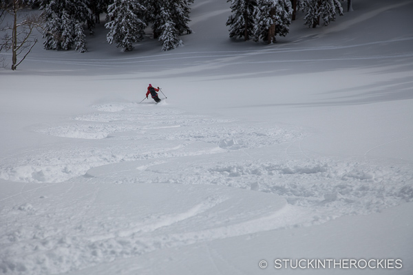 Ruthie Brown backcountry skiing