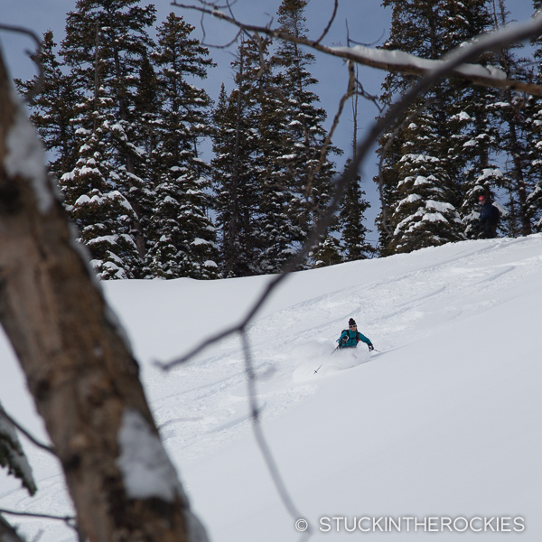 Christy Mahon, backcountry skiing