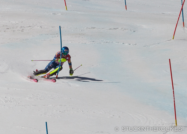 Mikaela Shiffrin in the FIS World Cup Finals-slalom