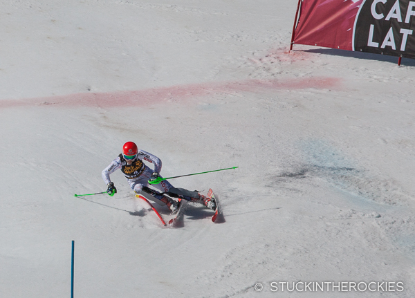 The winner of the FIS World Cup Finals-slalom