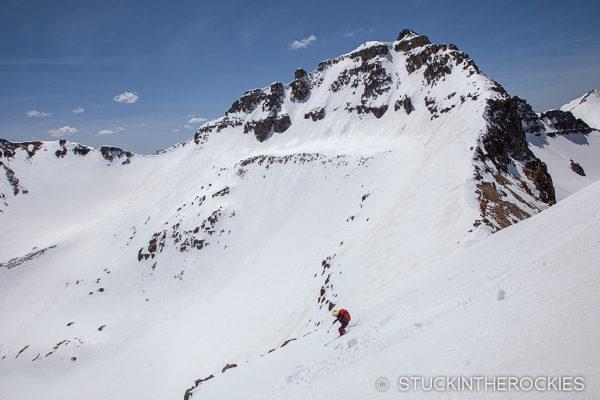 Christy Mahon skiing Golden Horn