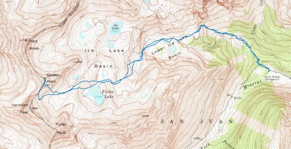 Map of skiing Golden Horn