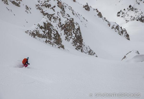 Ski touring around Star Peak