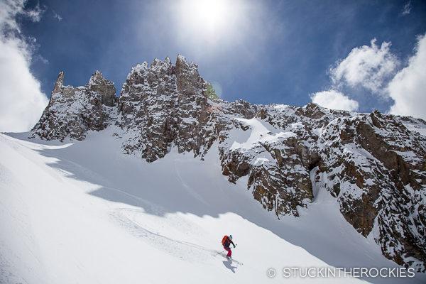 Skiing in Cooper Creek