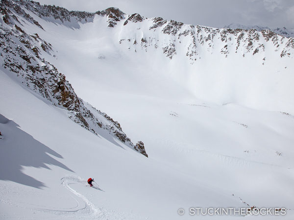 Christy Mahon skis Star Peak