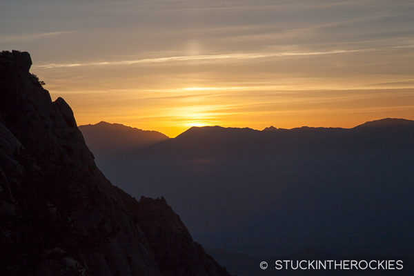 Sunrise on the Mount Whitney Trail