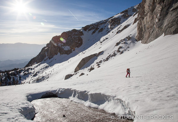 Skinning up to the Mountaineer's Route
