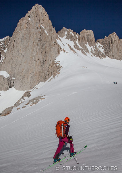 Nearing Iceberg Lake and the base of the Mountaineers Route on Mount Whitney
