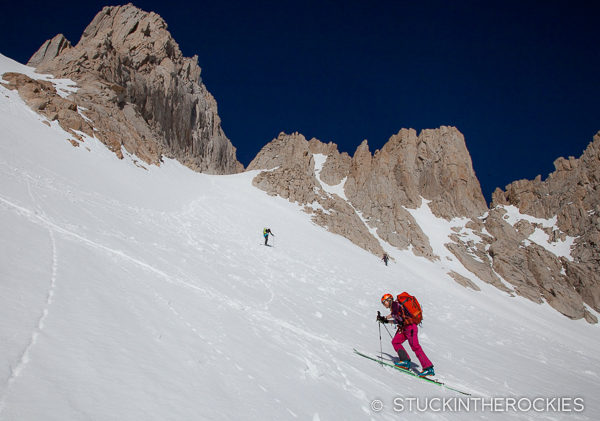 Skinning the Mountaineer's Route onMount Whitney