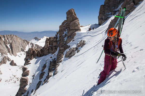 Traversing the North Face of Mount Whitney