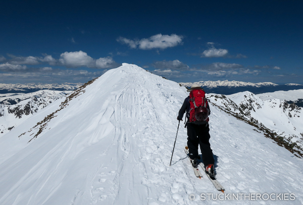 Topping out on Quandary Peak