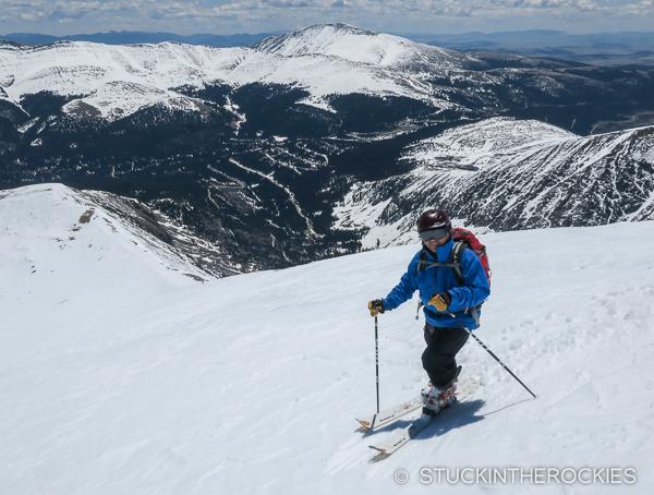 Scott Martin ready to ski Quandary Peak