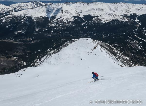 Skiing the East Ridge of Quandary Peak