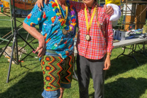 Allen Hadley and Christy Mahon At the San Juan Solstice 50 mile race