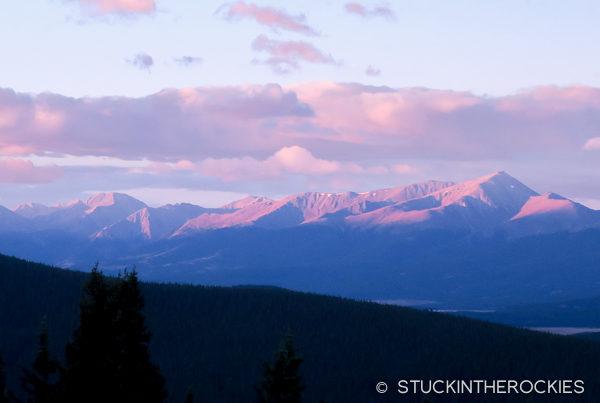 Mount Elbert from the Jackal Hut