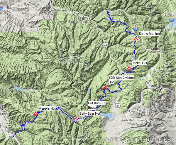 Hut Run Hut map