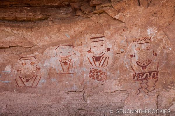 Four Faces petroglyph panel