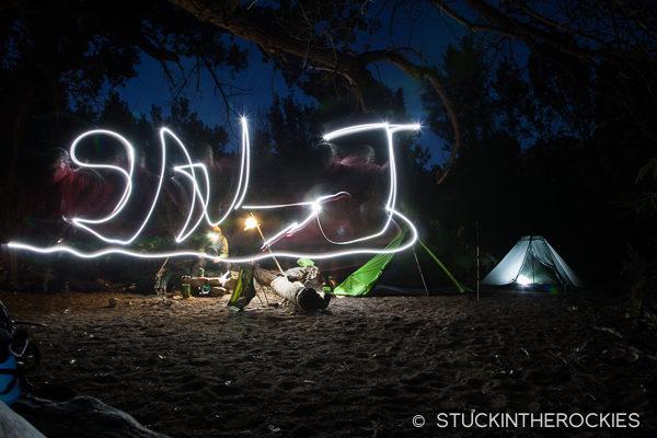Camping in Salt Creek