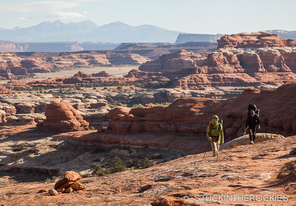 Hiking to Squaw Flat in the Needles of Canyonlands