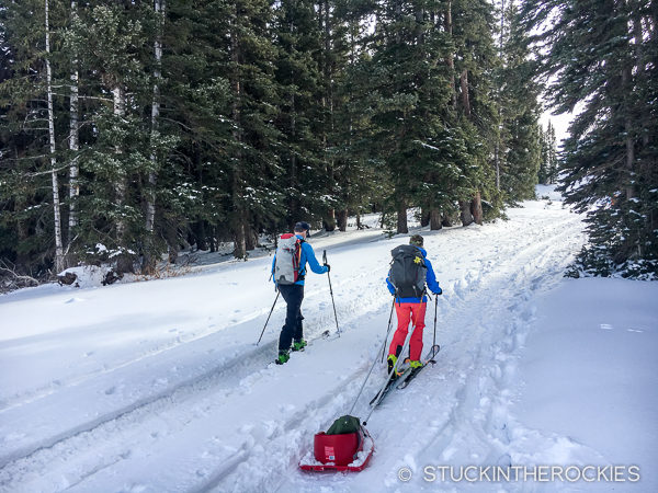Heading to Barnard hut on Thanksgiving