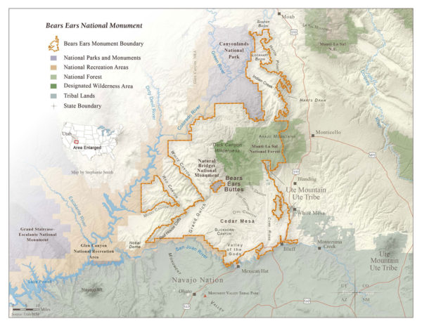 Bears Ears National Monument map